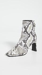Reike Nen 缎带方形纤薄靴子