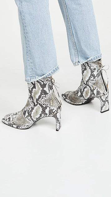 Reike Nen Ribbon Square Thin Boots