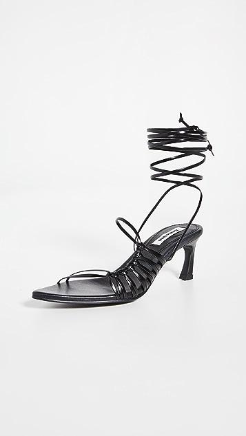 Reike Nen 扭结尖头凉鞋