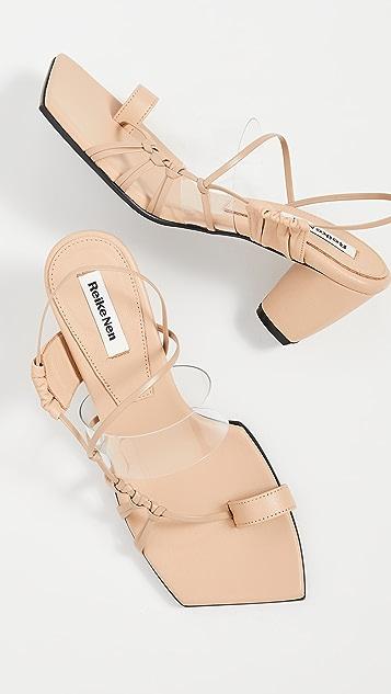 Reike Nen 侧边结饰带凉鞋