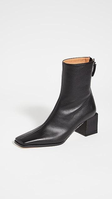 Reike Nen 立方体鞋跟基础款靴子