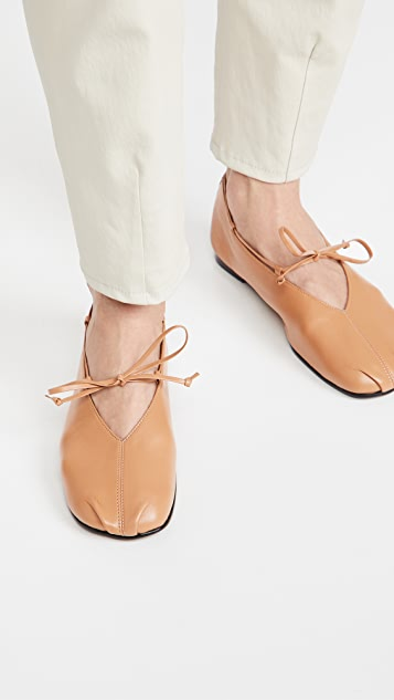 Reike Nen Toe Shirring Flats