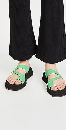 Reike Nen - Curved Strappy Platform Sandals