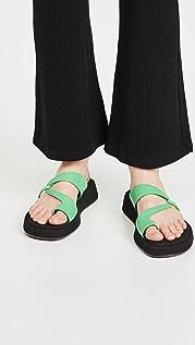 Reike Nen Curved Strappy Platform Sandals