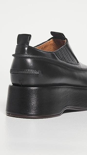 Reike Nen 侧面拼接厚底踝靴