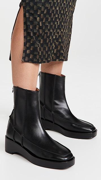 Reike Nen Pinch Stitch Mid Calf Boots