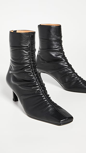 Reike Nen Front Shirring Ankle Boots