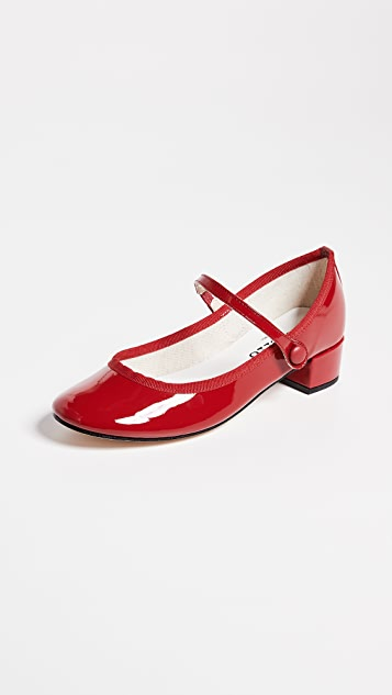 Rose Mary Jane Pumps by Repetto