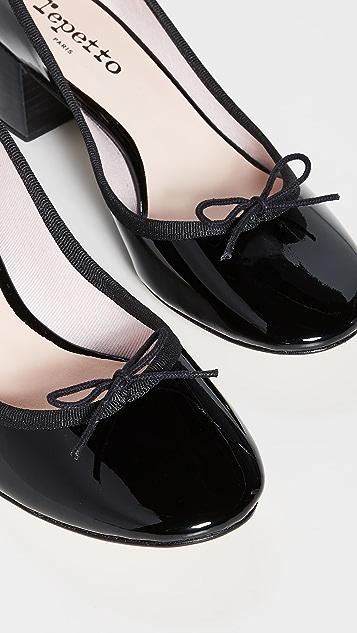Repetto Farah 粗跟浅口鞋