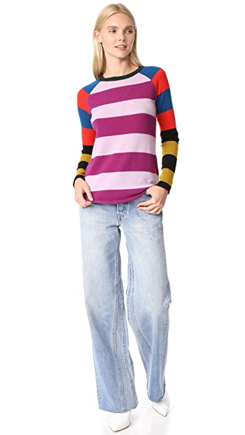 Replica Los Angeles Stripe Block Intarsia Long Sleeve