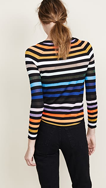 Replica Los Angeles Intarsia Stripes Top