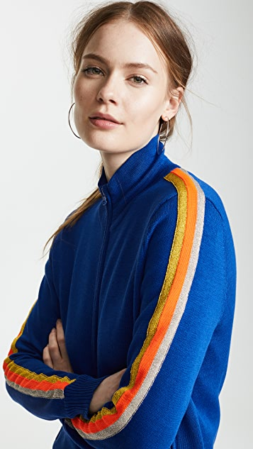 Replica Los Angeles Track Jacket with Metallic Stripes