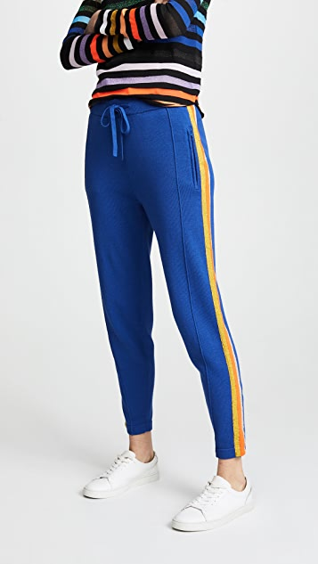 Replica Los Angeles Track Pants with Metallic Side Stripes