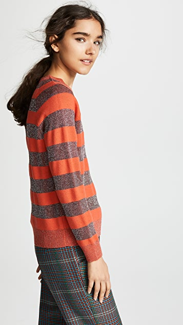 Replica Los Angeles Cashmere Sweatshirt with Metallic Stripes