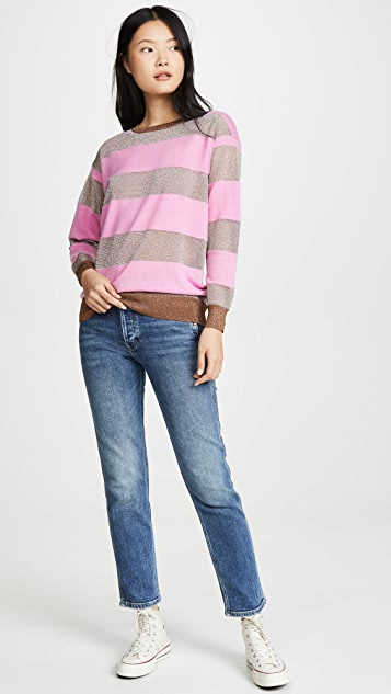 Replica Los Angeles Candy 条纹开司米羊绒毛衣