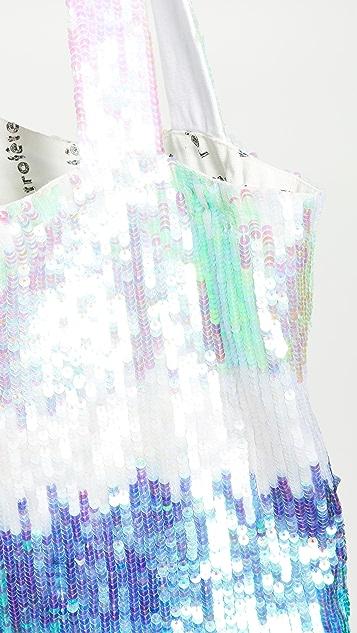 Retrofete Объемная сумка с короткими ручками и блестками