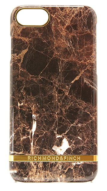 Richmond & Finch Brown Marble iPhone 7 Case