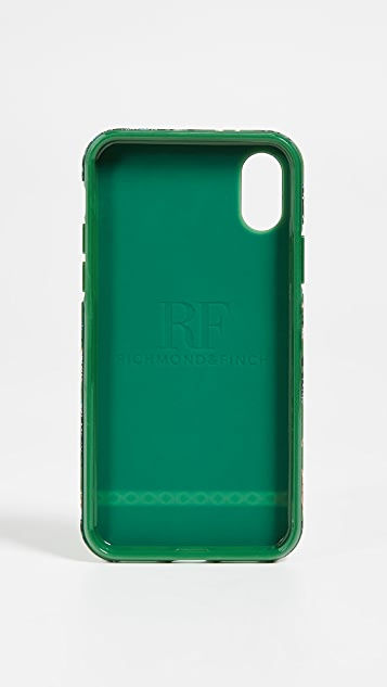 Richmond & Finch Green Leopard iPhone XS Case