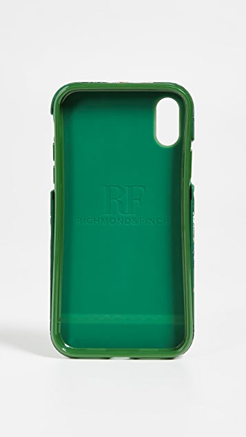 Richmond & Finch Green Leopard iPhone Case
