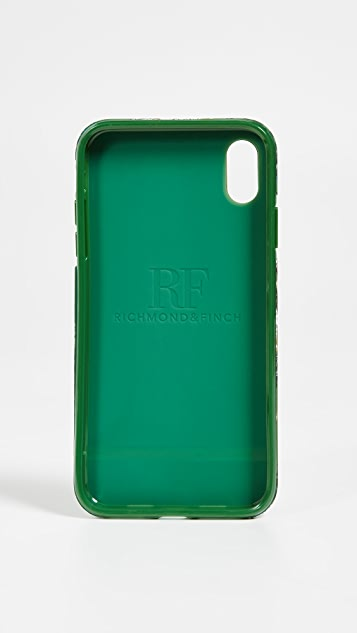 Richmond & Finch Green Leopard iPhone XS Max Case