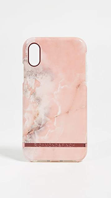 Richmond & Finch Pink Marble iPhone XR Case
