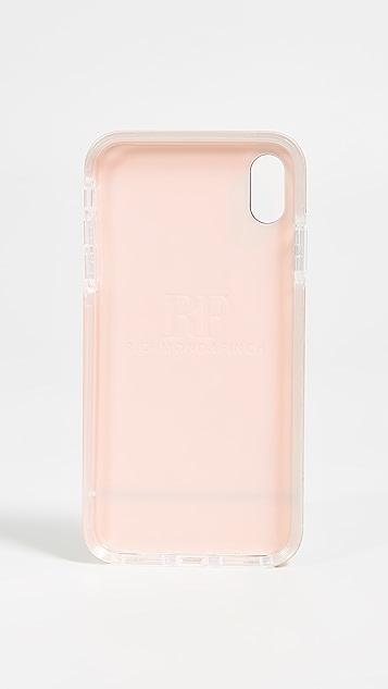 Richmond & Finch Чехол для iPhone XS Max с принтом под розовый мрамор