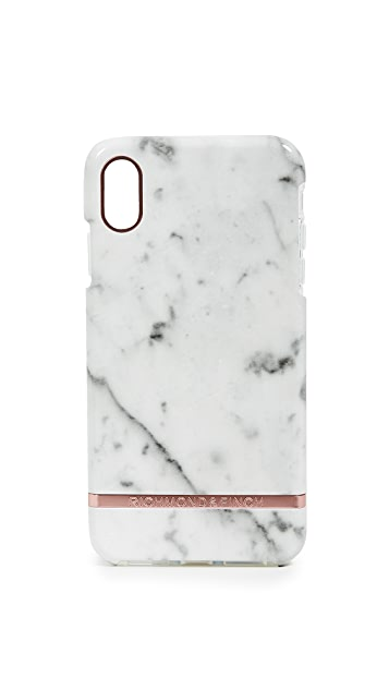Richmond & Finch Чехол для iPhone XS Max с принтом под белый мрамор