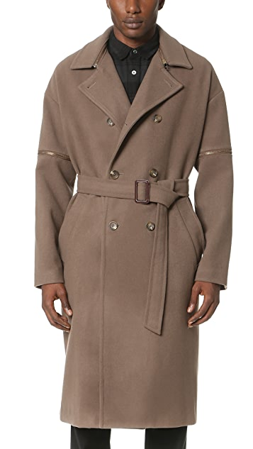 Robert Geller Daniel Zipper Sleeve Trench Coat