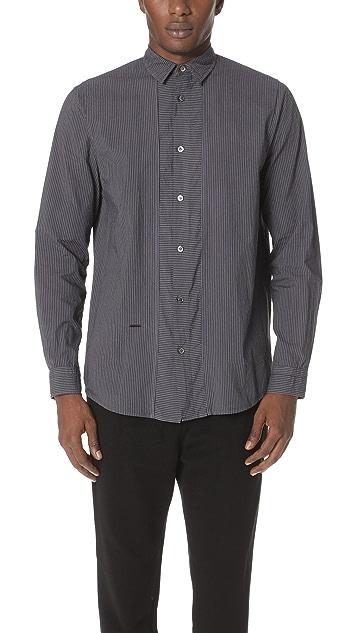 Robert Geller The Striped Direction Shirt