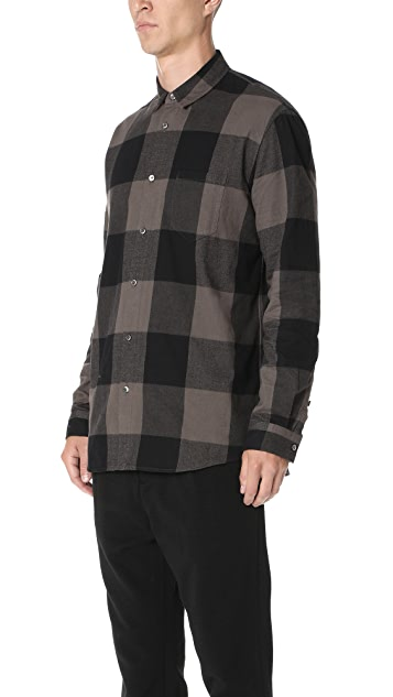 Robert Geller Dyed Plaid Shirt