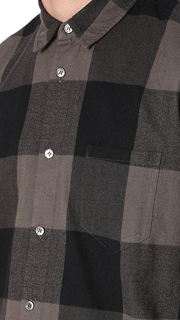 Robert Geller Dyed Plaid Shirt