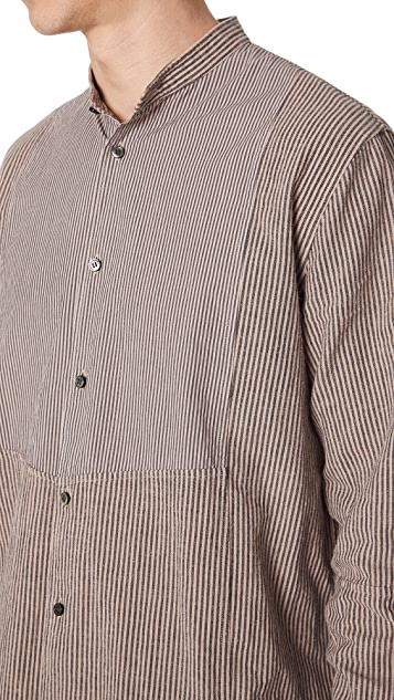 Robert Geller Theodore Stripe Combo Shirt