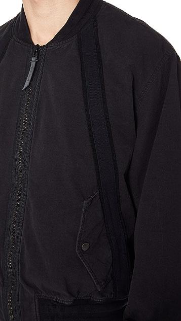 Robert Geller Bertrand Paper Cotton Bomber Jacket