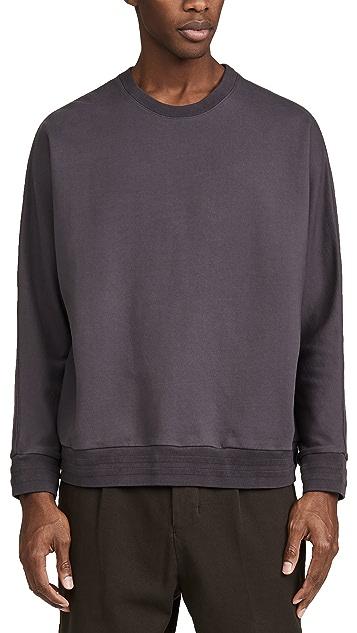 Robert Geller Garment Dyed Crew Neck Sweatshirt