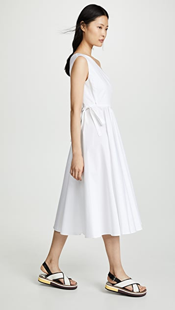 Rosetta Getty One Shoulder Wrap Dress