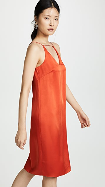 Rosetta Getty Strap Front Slip Dress