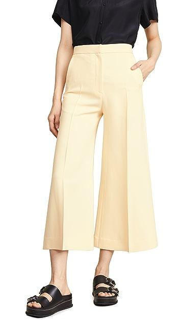 Rosetta Getty High Rise Cropped Trousers