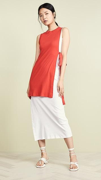 Rosetta Getty Dresses Blocked Split Dress