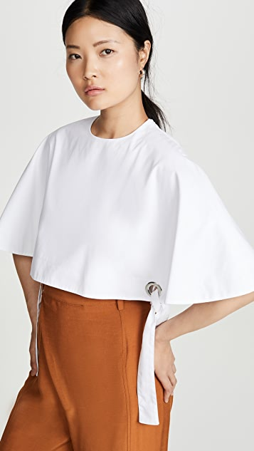 Rosetta Getty Grommet Cape Top