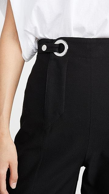 Rosetta Getty Grommet Tab Trousers