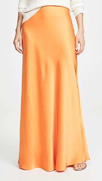 Rosetta Getty Bias Maxi Skirt