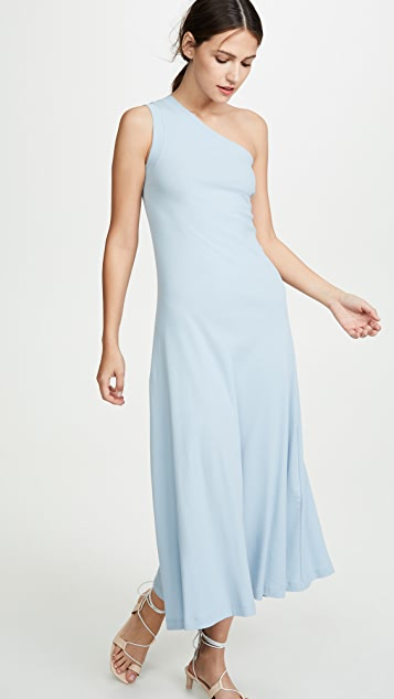 Rosetta Getty One Shoulder Tank Dress