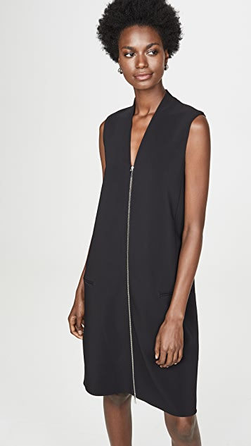 Rosetta Getty Zipper Front Shift Dress