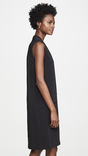 Rosetta Getty 前拉链直筒连衣裙
