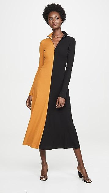 Rosetta Getty Long Sleeve Turtleneck Dress