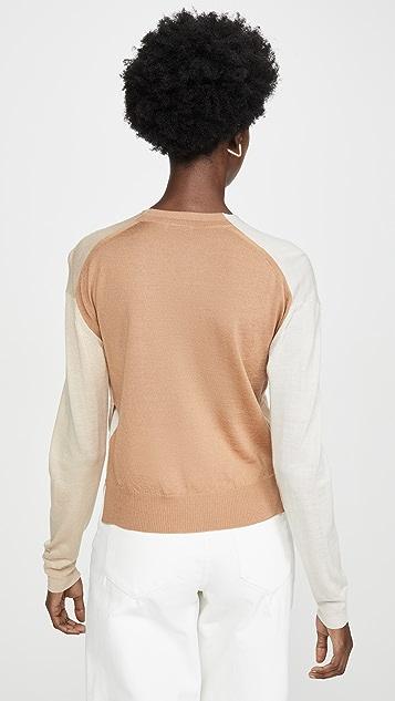 Rosetta Getty Wrapo Front Pullover Sweater