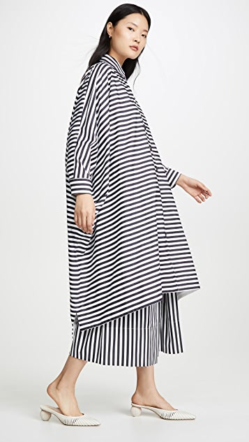 Rosetta Getty Oversized Caftan Shirtdress