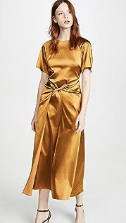 Rosetta Getty 正面扭褶连衣裙