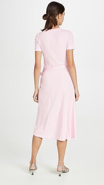 Rosetta Getty Платье-футболка Apron с короткими рукавами и запахом