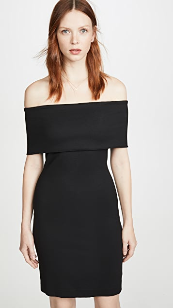Rosetta Getty Banded Off the Shoulder Dress